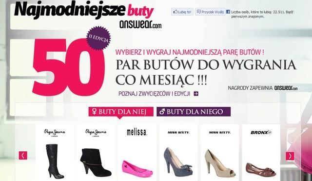 Kampania leadowa  -Najmodniejsze buty